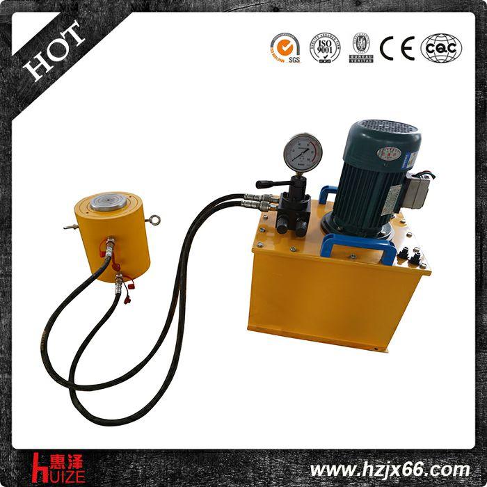 超高压电动千斤顶(双作用,要配电动泵才可上升,有油管,压力表)