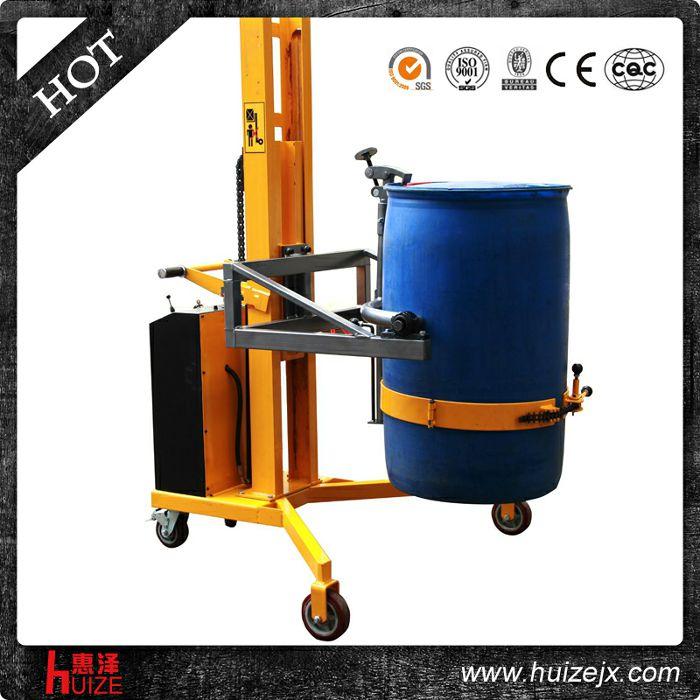半电动油桶车(直角支腿,只堆高不旋转)