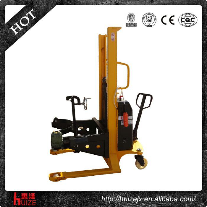 半电动可倾式油桶车(手夹紧电翻转)
